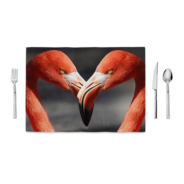 Prostírání Home de Bleu Flamingos Love, 35x49cm