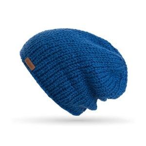 Modrá ručně pletená čepice DOKE Mina
