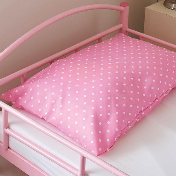 Dětská postel s matrací a povlečením Bundle, růžová