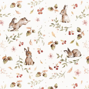 Tapet Dekornik Happy Rabbits, 50 x 280 cm imagine
