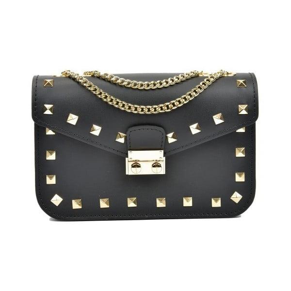 Černá kožená kabelka Anna Luchini Passo