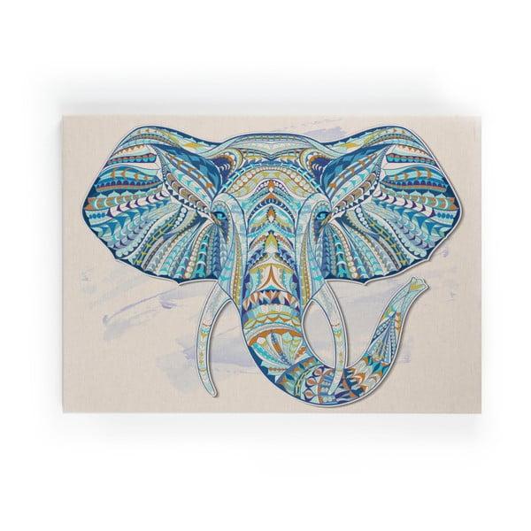 Obraz na płótnie Surdic Lino Elephant, 50x70 cm