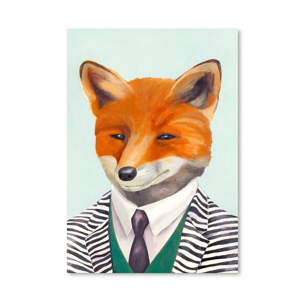 Plakát Fox, 30x42 cm
