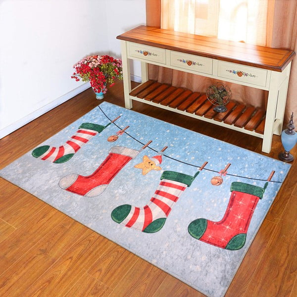 Covor Vitaus Christmas Socks, 80 x 120 cm