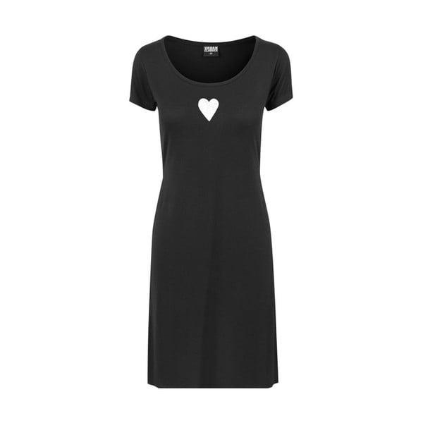 Fekete női hosszú póló hasítékokkal Lena Brauner & IM Cyber Együtt motívumával, méret: XL - KLOKART