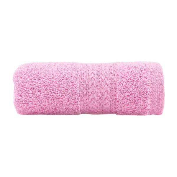 Růžový ručník z čisté bavlny Sunny, 30 x 50 cm