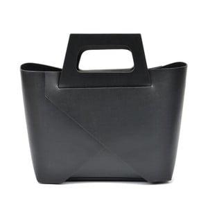 Černá kožená kabelka Carla Ferreri Mismo Hunno