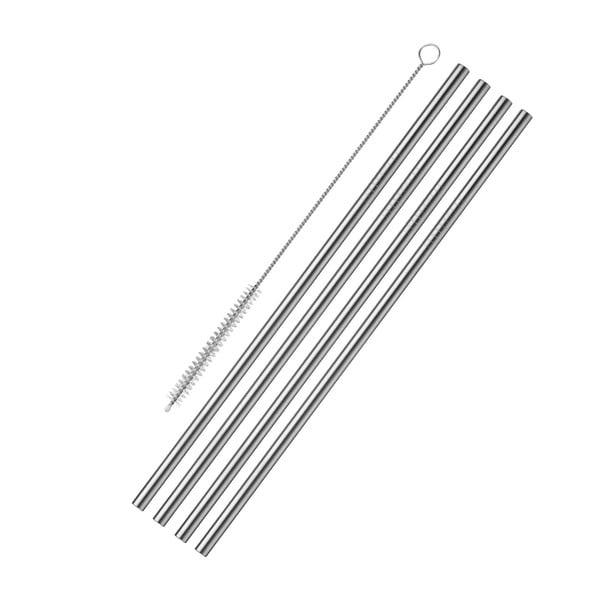 4 db rozsdamentes acél szívószál - Westmark