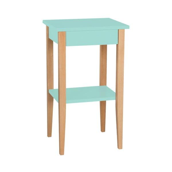 Světle tyrkysový odkládací stolek Ragaba Entlik