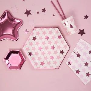 Sada 8 papírových talířů Neviti Little Star Pink