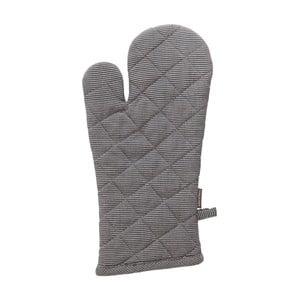 Šedá bavlněná kuchyňská rukavice Ego Dekor, 18 x 33 cm