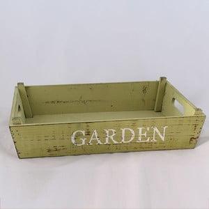 Dřevěná přepravka Garden, světle zelená