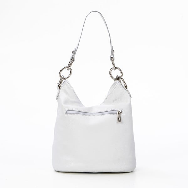 Kožená kabelka Luigi, bílá