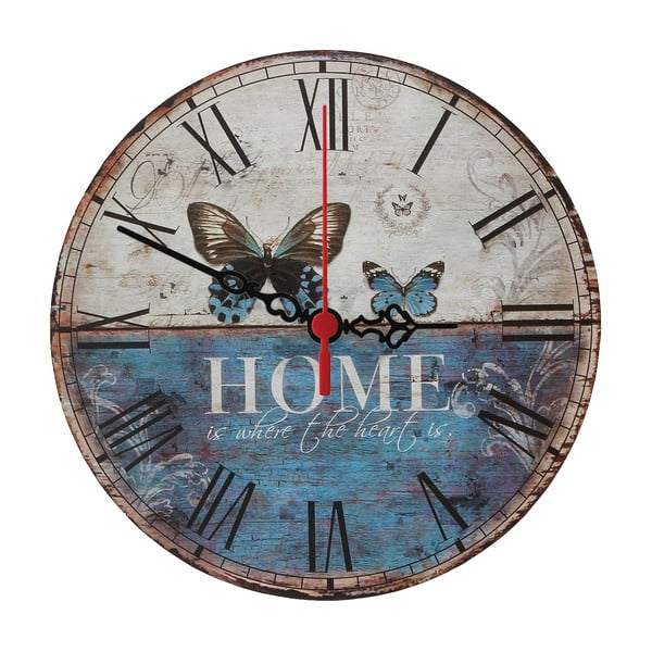 Nátěnné hodiny Home Is, 30 cm