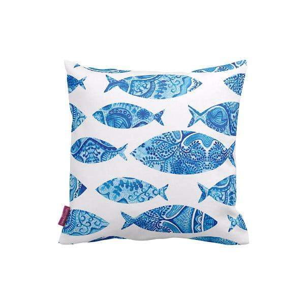 Povlak na polštář Blue Fish, 43x43 cm