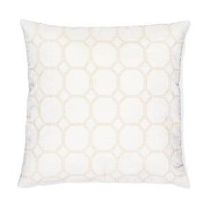 Bílý polštář Casa Di Bassi Whyte Beau, 50x50 cm