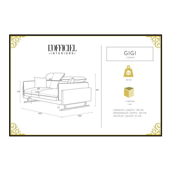 Tyrkysová 2místná pohovka L'Officiel Gigi