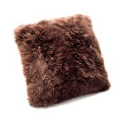 Hnědý polštář z ovčí vlny Royal Dream Sheepskin,45x45cm