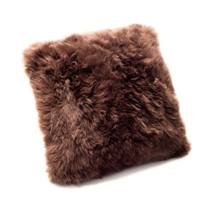 Pernă din blană de oaie Royal Dream  Sheepskin, 30 x 30 cm, maro