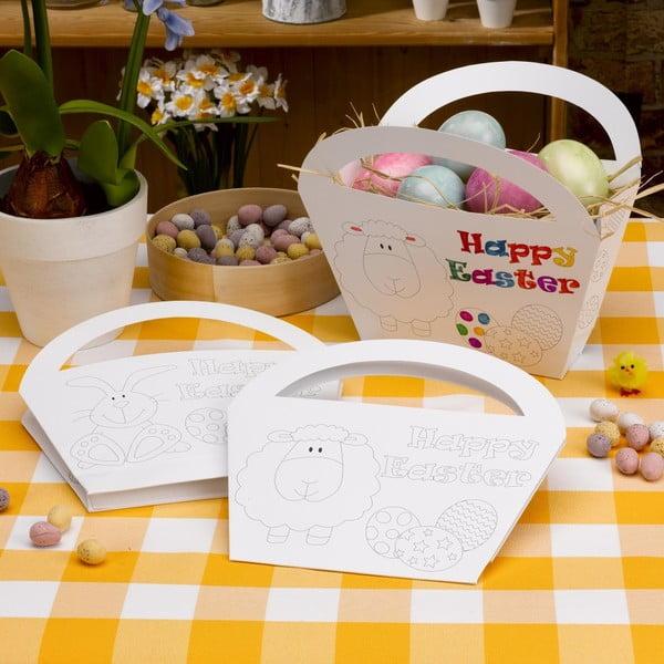 Sada 4 papírových košíků k vybarvení Neviti Easter Craft
