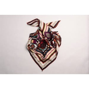Hedvábný šátek Neo Tribal Handrolled Hemming