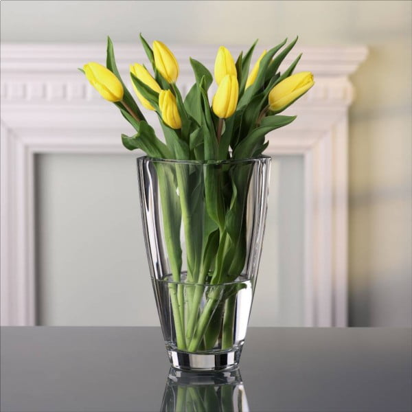 Váza z křišťálového skla Nachtmann Carré, výška 25 cm