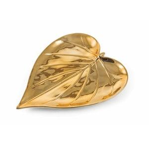 Dekorativní podnos ve zlaté barvě Villa d'Este Chic Piatto Largo