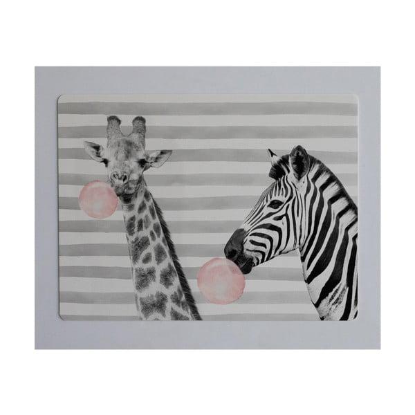Podložka na stůl Little Nice Things Zebra, 55 x 35 cm
