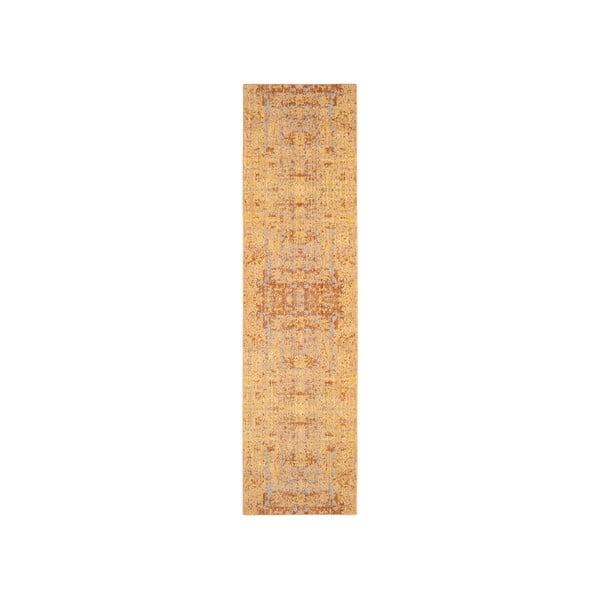 Běhoun ve zlaté barvě Safavieh Abella, 68x243cm