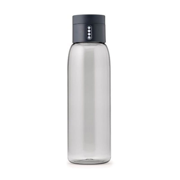 Šedá láhev s počítadlem Joseph Joseph Dot, 600 ml