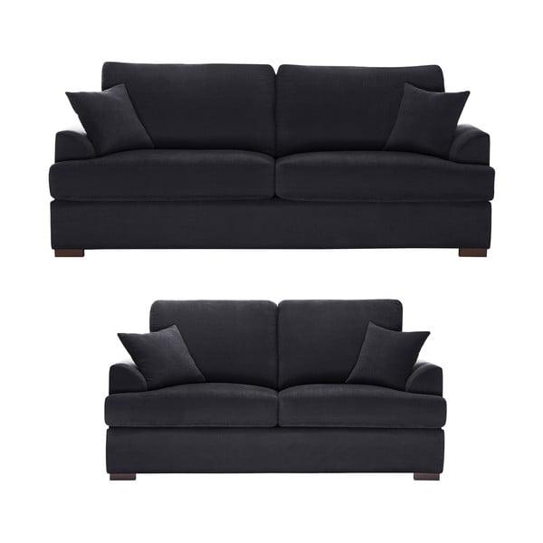Dvoudílná sedací souprava Jalouse Maison Irina, černá