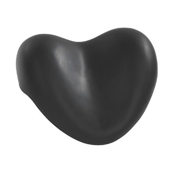Černá opěrná podložka do vany Wenko Bath Pillow Black, 25 x 11 cm
