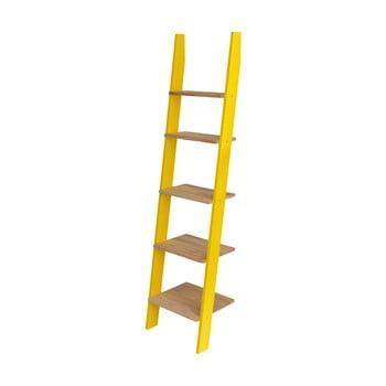 Etajeră în formă de scară Ragaba Ashme, galben imagine