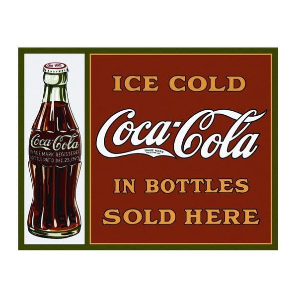 Plechová cedule Coca Cola Here, 30x40 cm