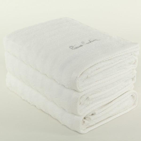Sada 3 osušek Pierre Cardin Snow, 50x90 cm