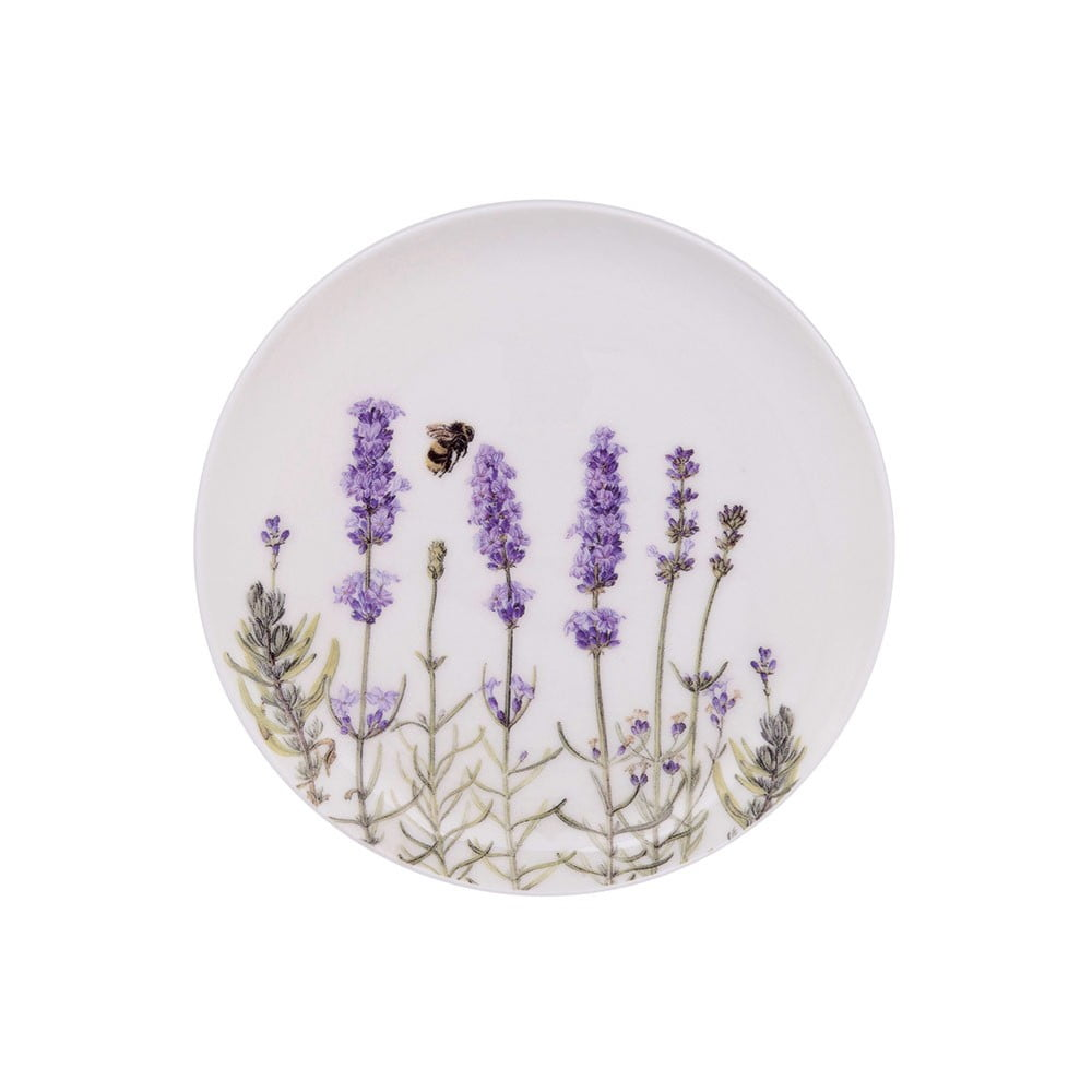 Dezertní talíř z kostního porcelánu Ashdene I Love Lavender, ⌀15cm