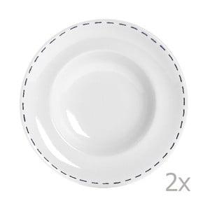 Sada 2 talířů na těstoviny Sophie Stitch 30.5 cm, modrý