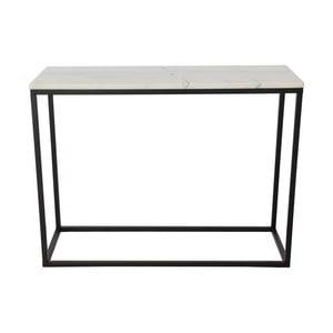 Mramorový konferenční stolek s černou konstrukcí RGE Accent, 100x35cm