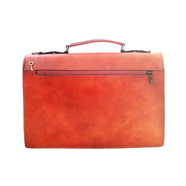 Kožená kabelka/kufřík Lambrusco, medová