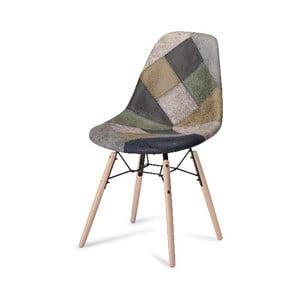 Scaun cu picioare din lemn de fag Furnhouse Sun Patch, gri