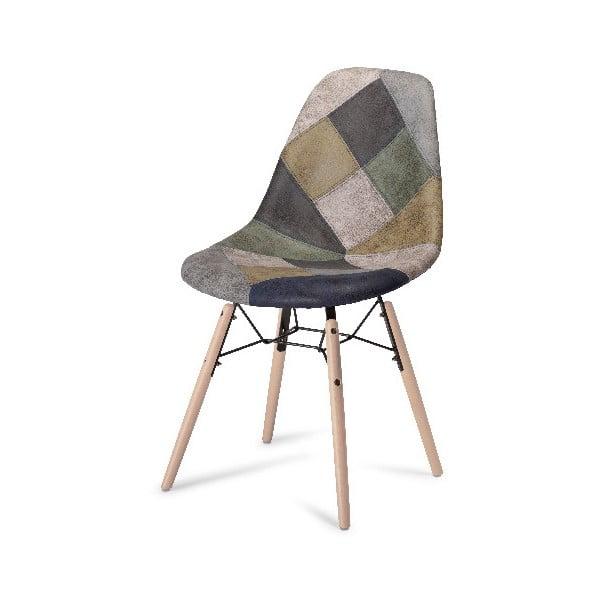 Šedá jídelní židle s nohami z bukového dřeva Furnhouse Sun Patch