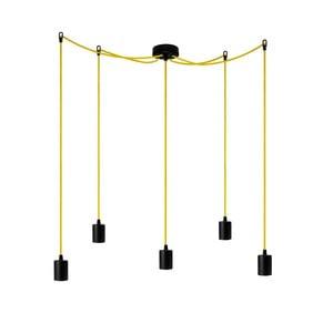 Závěsné svítidlo s 5 žlutými kabely Bulb Attack Cero