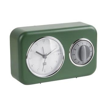 Ceas cu timer de bucătărie PT LIVING Nostalgia, verde de la PT LIVING