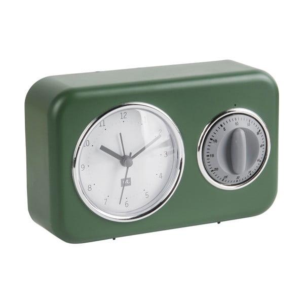 Nostalgia zöld asztali óra konyhai percjelzővel - PT LIVING