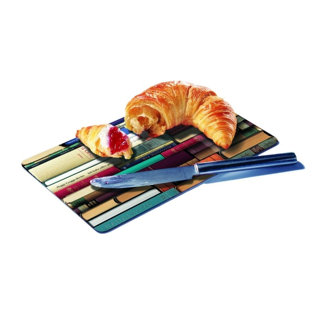 Podložka na krájení pečiva Remember Bookworms, 23,5 x 14,3 cm