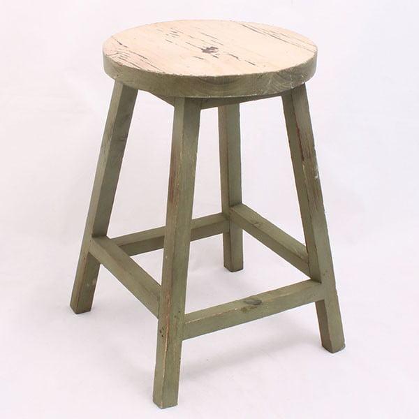 Dřevěná stolička Ring, zelená