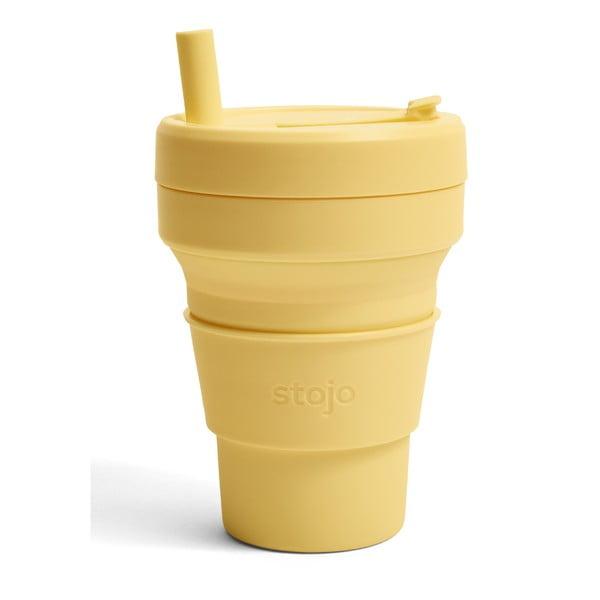 Žlutý skládací hrnek Stojo Biggie Mimosa, 470 ml