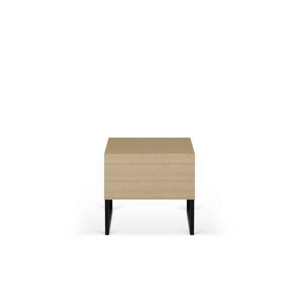 Nočný stolík v dekore dubového dreva TemaHome Mara, 50 × 51 cm