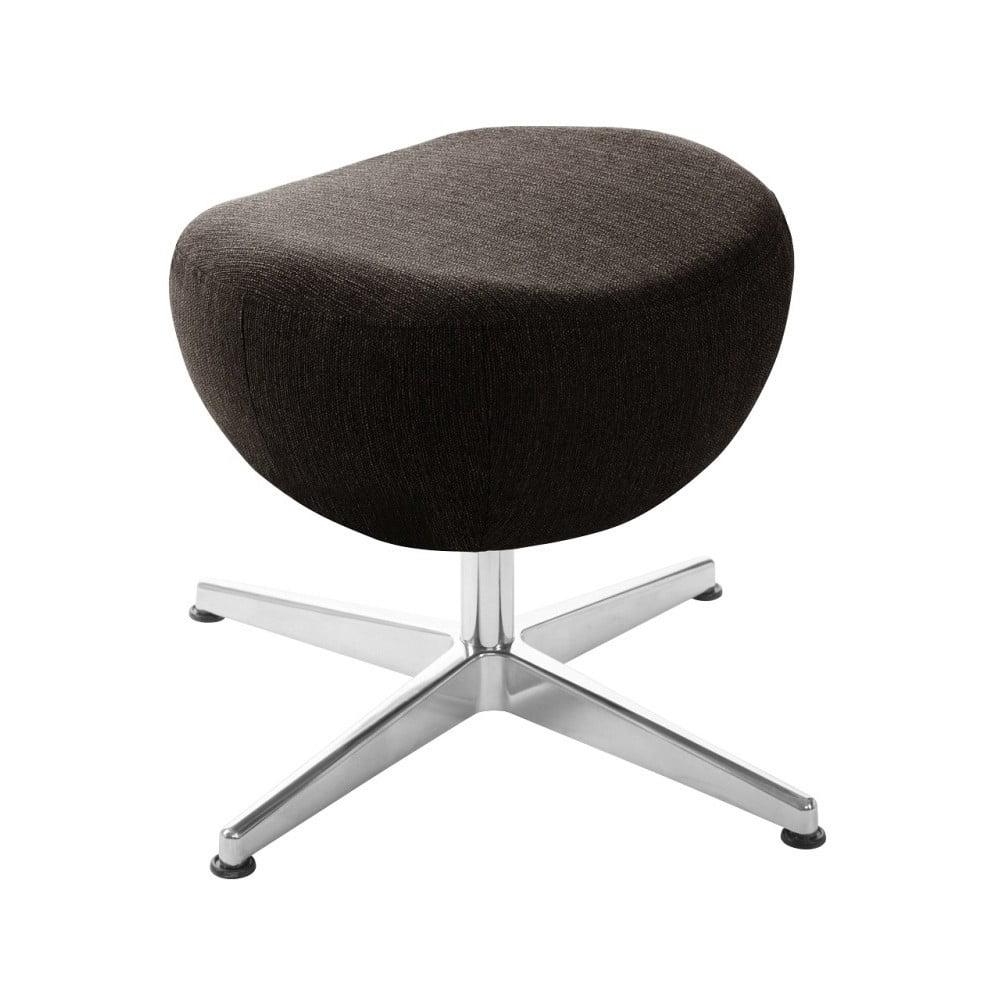 Tmavě hnědá otočná stolička/podnožka My Pop Design Indiana