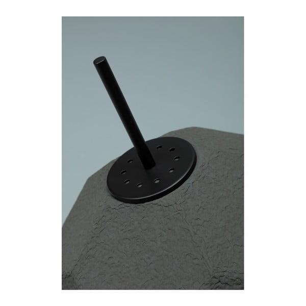 Černá stojací lampa se stínidlem z recyklovaného papíru Design Twist Mosen